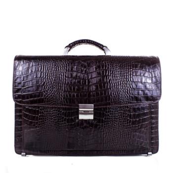 Солидный мужской портфель из кожи коричневого цвета class=