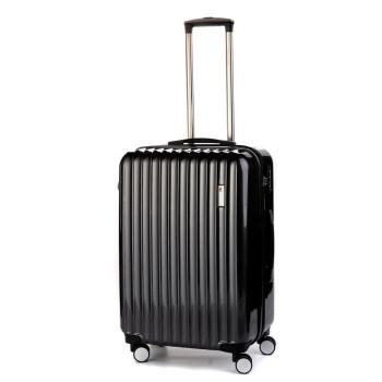 Средний пластиковый чемодан Sumdex SWR-724CB на четырех колесах черный class=
