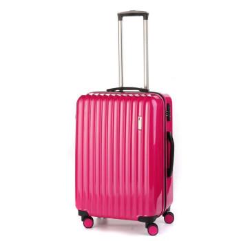 Средний пластиковый чемодан Sumdex SWR-724CP на четырех колесах розовы class=