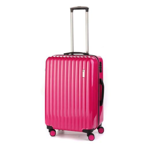 Средний пластиковый чемодан Sumdex SWR-724CP на четырех колесах розовый