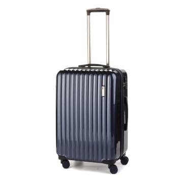 Средний пластиковый чемодан Sumdex SWR-724NB на четырех колесах синий class=