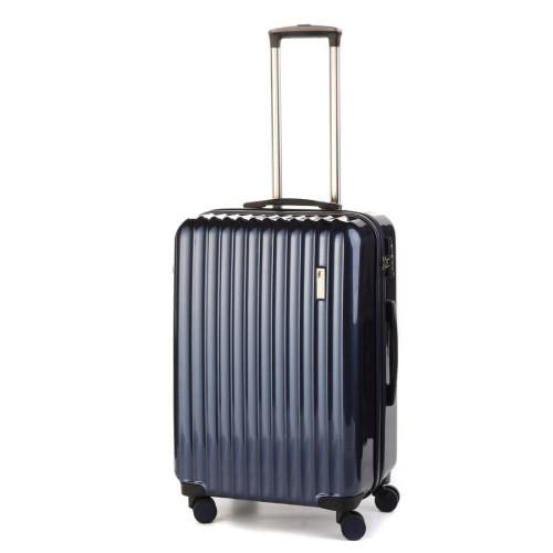 Средний пластиковый чемодан  Sumdex SWR-724NB на четырех колесах синий