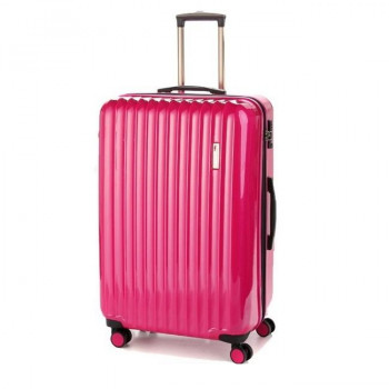 Большой пластиковый чемодан Sumdex SWR-725CP на четырех колесах розовы class=