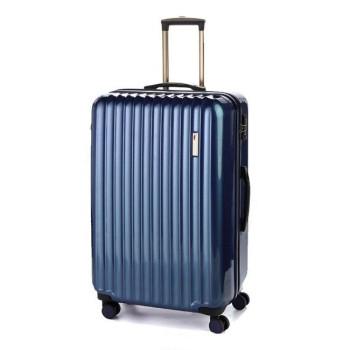 Большой пластиковый чемодан Sumdex SWR-725NB на четырех колесах синий class=