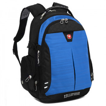 Городской рюкзак с увеличивающимся объемом 34 - 39 литров синий class=