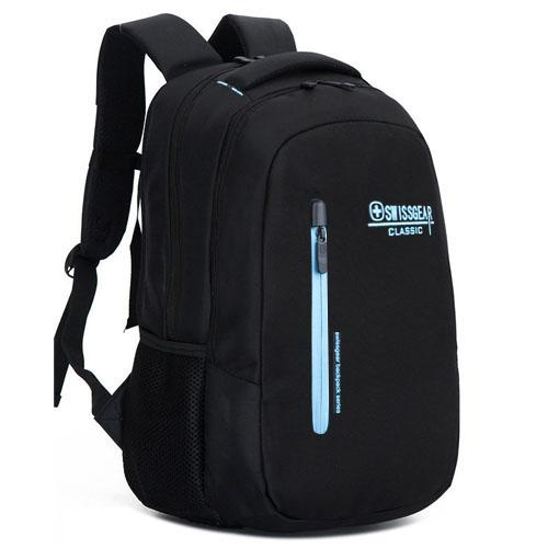 Надёжный городской рюкзак SwissGear 32 литра черный с голубым