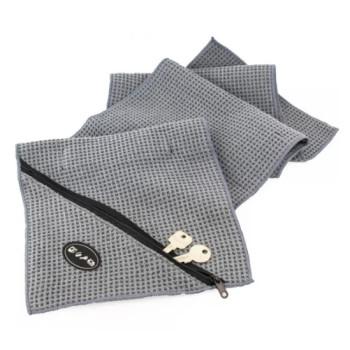 Полотенце из микрофибры для фитнеса с карманом на молнии 114 х 24 см class=