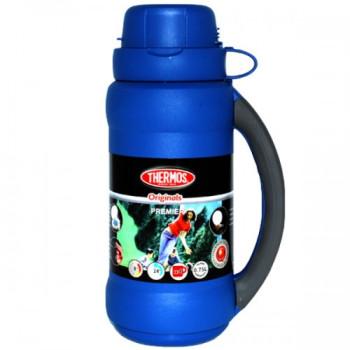 Термос стеклянная колба 0.75 л с чашками class=