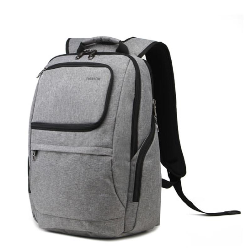 Городской рюкзак Tigernu с ортопедической спинкой серый