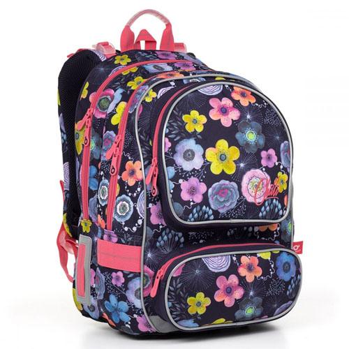 Школьный рюкзак с двумя передними карманами для девочек
