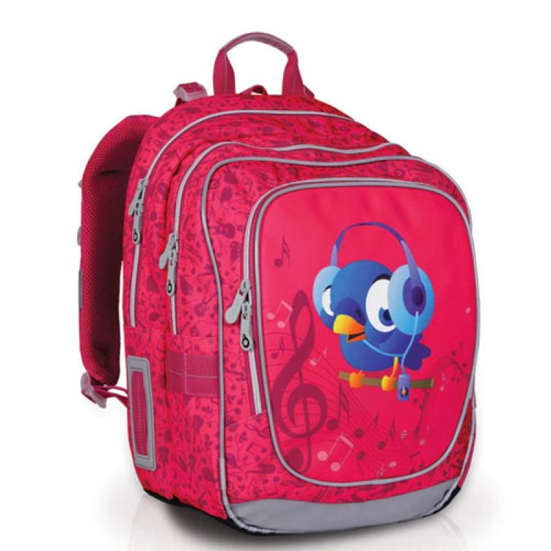 Рюкзак с рисунком музыкальной птички для девочки
