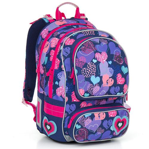 Ортопедический школьный рюкзак с принтом сердечки