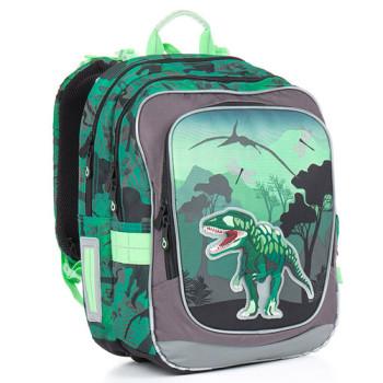 Школьный рюкзак с ярким 3D рисунком в виде тираннозавра class=