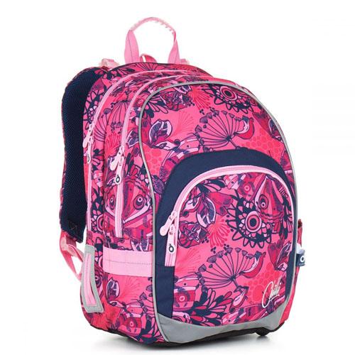 Рюкзак школьный для девочки с красочным принтом