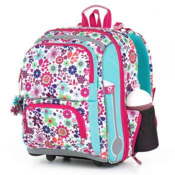 Школьный ранец для девочки с цветочным принтом class=