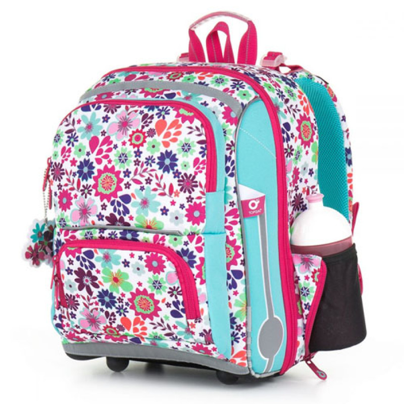 Школьный ранец для девочки с цветочным принтом