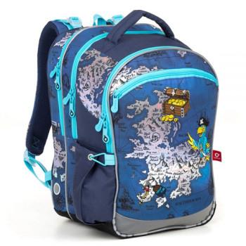 Ортопедический школьный рюкзак Topgal в пиратском стиле class=