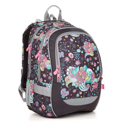 Ортопедический школьный рюкзак с термо карманом для девочек