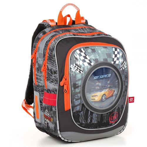 Ортопедический школьный рюкзак со сменными 3D рисунками автомобилей
