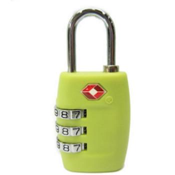 Салатовый навесной замок с кодом TSA class=