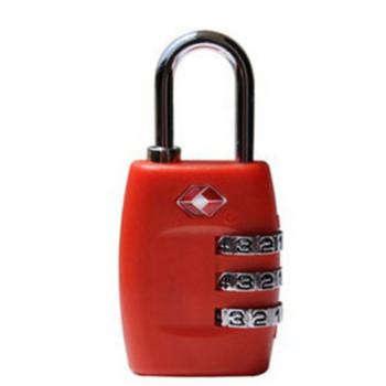 Навесной замок с кодом TSA красный class=