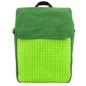 Рюкзак с пикселями для учебы Upixel Fliplid Зелено-салатовый class=