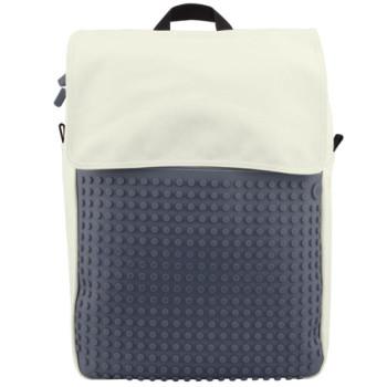 Школьный рюкзак с мозаикой Upixel Fliplid Бело-серый class=