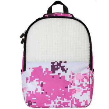 Стильный рюкзак Upixel Camouflage Розово-белый class=