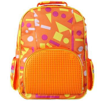 Школьный рюкзак для девочки Upixel Geometry Neverland Оранжевый class=