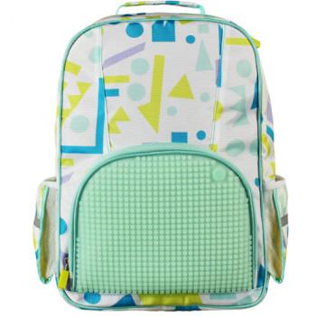 Детский рюкзак Upixel Geometry Neverland Бирюзово-белый class=