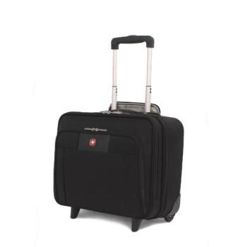 Небольшой чемодан на двух колесах с телескопической ручкой class=