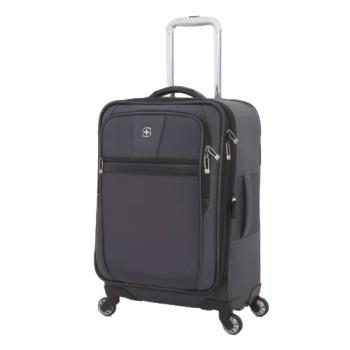 Легкий чемодан из полиэстера на четырех колесах 20