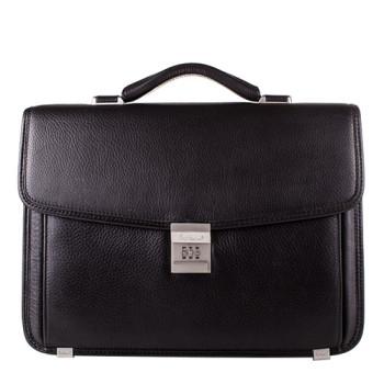 Мужской кожаный портфель с кодовым замком class=