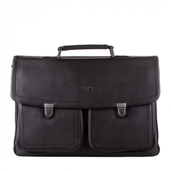 Строгий мужской портфель из мягкой кожи class=