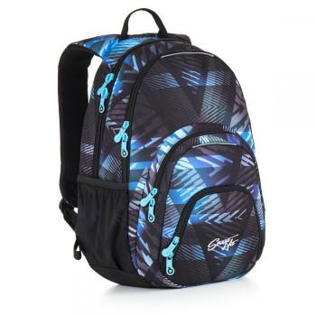 Качественный молодежный рюкзак абстрактный принт синего цвета class=