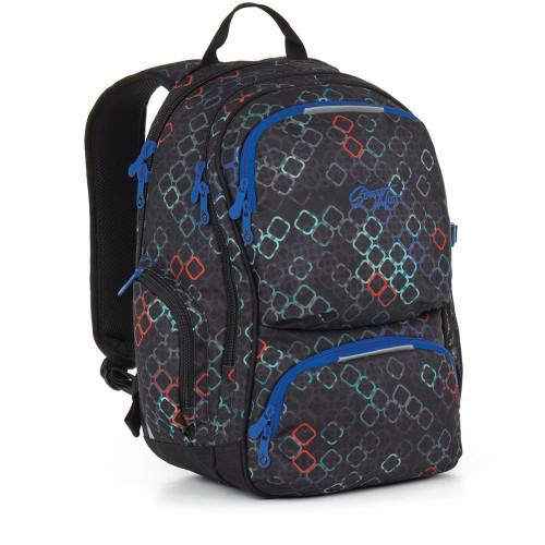 Качественный молодежный рюкзак абстрактный принт черный