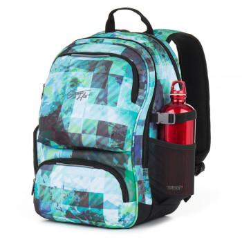 Стильный молодежный рюкзак для парней синего цвета class=