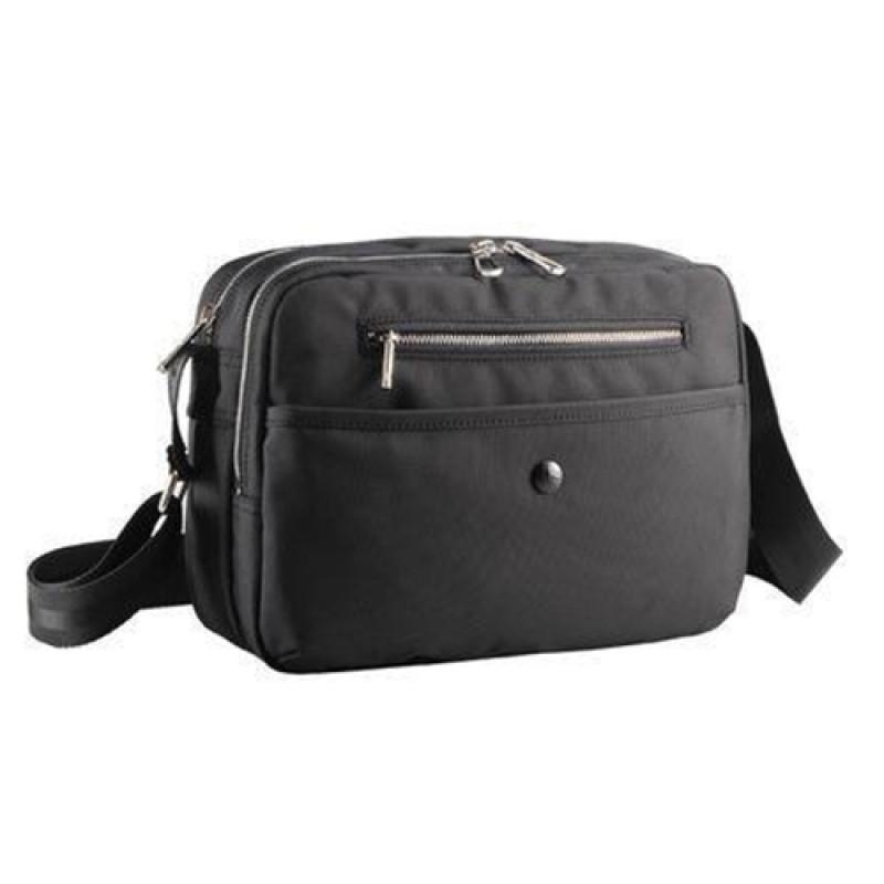 Легкая городская сумка черного цвета с отделением для ноутбука 10 дюймов