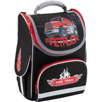 Черный каркасный рюкзак Kite Firetruck для мальчика  class=