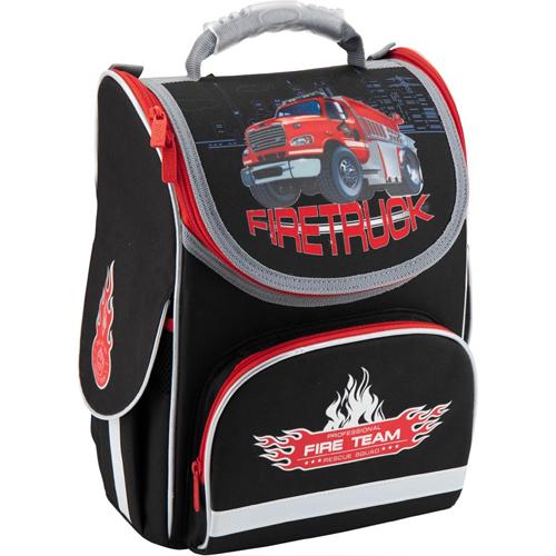 Черный каркасный рюкзак Kite Firetruck для мальчика