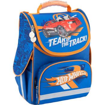 Голубой школьный каркасный рюкзак Kite Hot Wheels class=