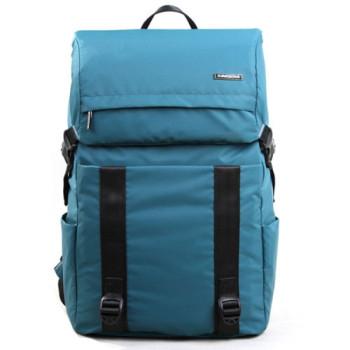 Молодежный  городской рюкзак с клапаном синий class=