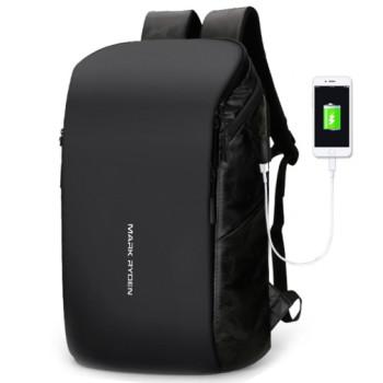Городской рюкзак черный  class=