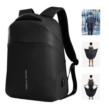Городской рюкзак с накидкой от дождя class=