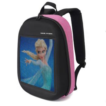 Рюкзак с лед дисплеем сиреневый class=