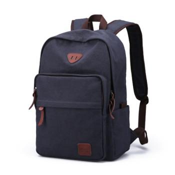 Стильный рюкзак в ретро стиле синего цвета 32 литра class=