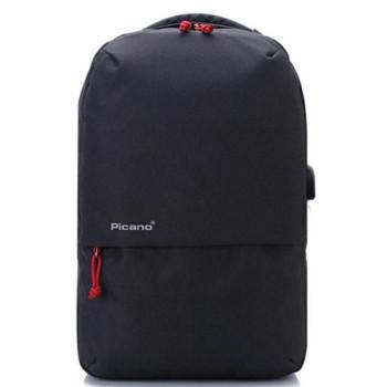 Стильный рюкзак с выходом USB черный class=