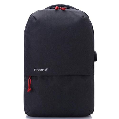 Стильный рюкзак с выходом USB черный