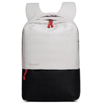 Стильный рюкзак с выходом USB белый с черным class=