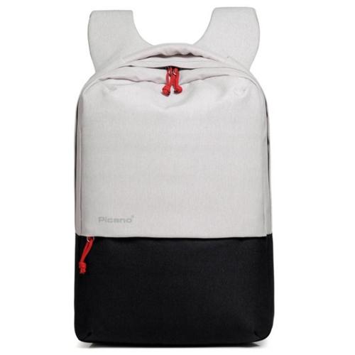 Стильный рюкзак с выходом USB белый с черным
